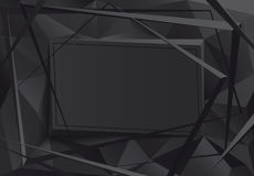 Black design frame. Black abstract background Royalty Free Stock Photos