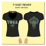 Black design T-shirts  with a picture paisley ornament Stock Photos