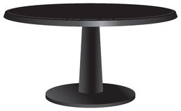 Black design table with a round top Royalty Free Stock Photos