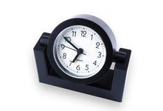 Black desk clock Royalty Free Stock Photos