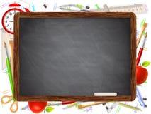Black desk with copyspace. EPS 10 Stock Photos