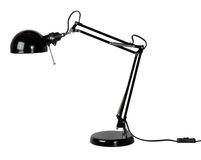 Black desk lamp Royalty Free Stock Images