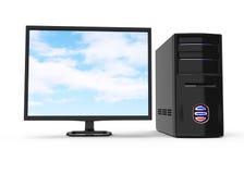 Black desktop computer Stock Photos