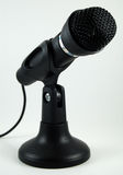 Black desktop microphone on stand royalty free stock photography