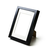 Black desktop picture frame Stock Images