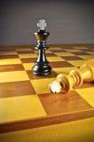 black det segrade schacket Royaltyfria Foton