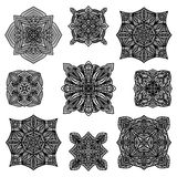 Black detailed ornament collection Stock Photos