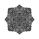 Black detailed ornament Stock Photography