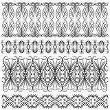 Black detailed trim or border collection Royalty Free Stock Photography