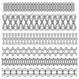 Black detailed trims or border Royalty Free Stock Photography