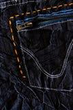 black details jeans Arkivbilder