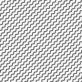 Black diagonal lines seamless pattern. Wavy, zigzag distorted li Stock Image