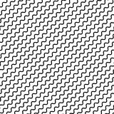 Black diagonal lines seamless pattern. Wavy, zigzag distorted li Royalty Free Stock Image