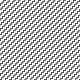 Black diagonal lines seamless pattern. Wavy, zigzag distorted li Royalty Free Stock Photography