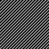 Black diagonal lines seamless pattern. Wavy, zigzag distorted li Royalty Free Stock Photo