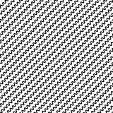 Black diagonal lines seamless pattern. Wavy, zigzag distorted li Royalty Free Stock Photos