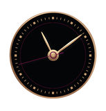 Black dial with gold arrows Stock Images