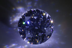 Black Diamond. Flashing in the dark Royalty Free Stock Photography