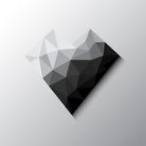Black diamond heart Stock Image