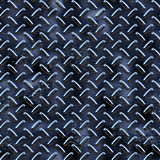Black diamond plate. A very large sheet of black and blue diamond plate metal with rough pits and marks Stock Image