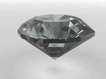Black diamond rendered with soft shadows Stock Image