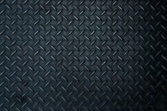 Black diamond steel plate Stock Image