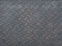 Black diamond steel  plate Stock Images
