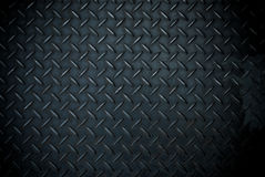 Black diamond steel plate Stock Photography