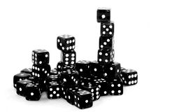 Black dice Stock Photo