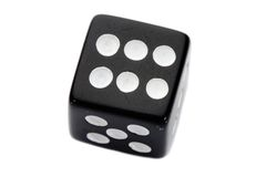 Black dice royalty free stock photography