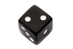 Black dice Royalty Free Stock Image