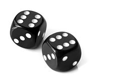 Black Dice Royalty Free Stock Photos