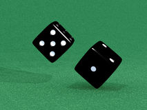 Black dice. For different games Royalty Free Stock Images