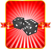 Black Dice on Background Stock Image