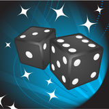 Black Dice on Background Stock Images