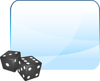 Black Dice on Blank Background Royalty Free Stock Photo