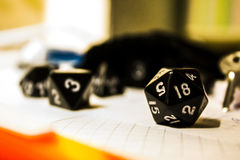 Black dice Stock Images