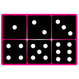 black dice Stock Photo