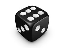 Black dice on white background Stock Photos