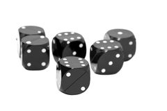 Black dices Royalty Free Stock Photography