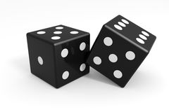 Black dices Stock Images