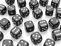 The black dices Royalty Free Stock Image