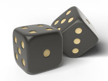 Black  dices. Royalty Free Stock Image