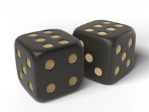 Black  dices. Royalty Free Stock Photo