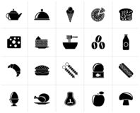 Black Different king of food and drinks icons. 2 - vector icon set vector illustration