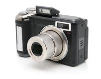 Black digital camera Royalty Free Stock Photography