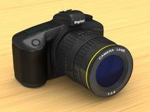 Black digital camera. 3D illustration.  Royalty Free Stock Image