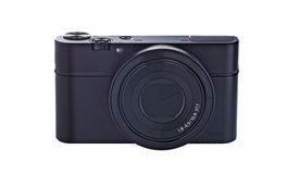 Black Digital Camera Stock Photo