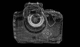 Black digital camera isolated Stock Images