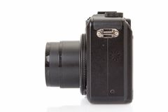 Black digital compact camera Royalty Free Stock Images